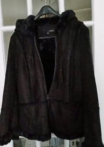 Black Faux Suede Jacket...Size Medium