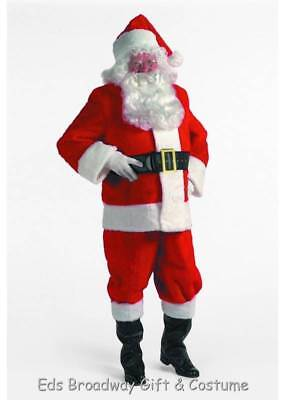 Adult 9 Piece Rental Quality Deluxe Santa Claus Suit Costume XL - Santa Costume Rentals