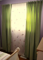 POTTERY BARN KIDS CURTAIN SET - GREAT CONDITION