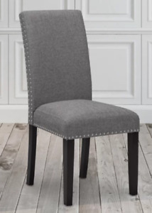 Grey chairs. Fabric linen. Dinning chair. Branded. New