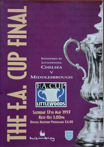 The F.A. Cup Final May 1997  Chelsea v Middlesborough