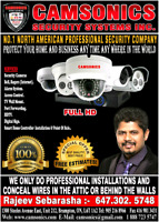CCTV SECURITY CAMERAS INSTALLATION WWW.CAMSONICS.COM