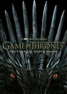 Game Of Thrones Season 8, Slipcover (4-Disc) Original DVD. Sealed .Free Shipping
