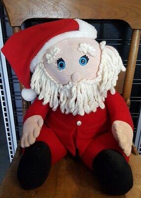 "Santa Claus Vintage 80s Large HALLMARK STUFFED Christmas Holiday 15"" Plush Doll (Large Stuffed Santa Claus)"