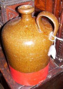 Antique Stoneware  Whiskey Molasses Jug