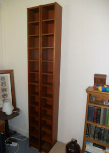 Ikea Benno Gnedby Tower Shelving Units - Brown Ash