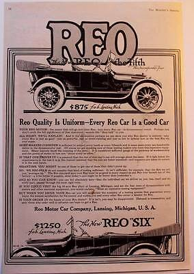 1916  ad REO Motor Car Company REO Fifth and Sixth Great ad!