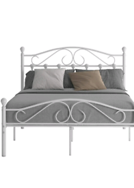 Brand new metal double bed frame
