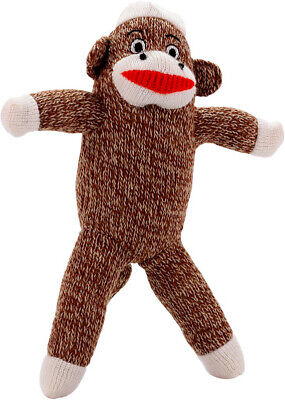 Pet Qwerks Sock Monkey Dog Toy