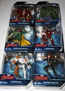 6-Marvel's Avenger's Playmation Vision, Hulk, Ultron, Iron man