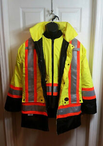 Pioneer Storm Master 6 in 1 Weatherproof Hi Viz Safety Jacket