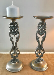 Two Pier 1 metal Candle holders