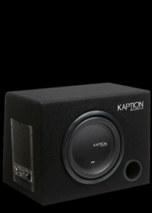 "10"" kaption subwoofer with built in amp"
