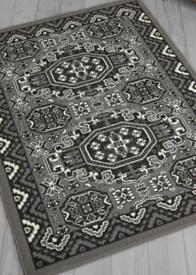 Kayo Large Grey Patterned Rug 160 x 230 cms