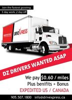 DZ DRIVER NEEDED 24FT TRUCK EXPEDITED WORK DEDICATED