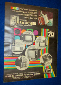 FRENCH 1969 RCA TELEVISIONS / TV MONTREAL FAUCHER STORE AD - 60S