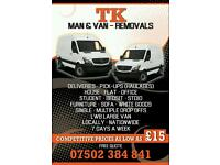 MAN AND VAN FROM £15 call now 07502384841