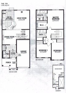 Brand New 3 bedroom townhome for rent in Kanata