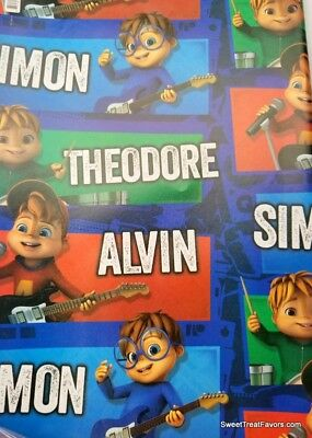 ALVIN And The CHIPMUNKS Wrapping Paper Gift Book Cover Party Wrap PARTY SIMON *