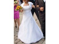 White petite wedding dress for sale
