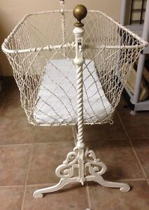 Antique Vintage Wrought Iron Baby Cradle