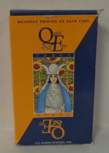 Quick & Easy Tarot Full Deck Meanings Printed On Cards