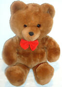 Dakin Brown Teddy Bear Red Bow