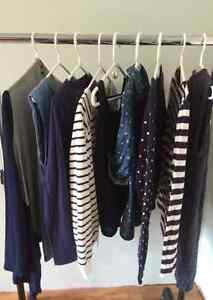 9 Blue Tops, Used, Good Condition