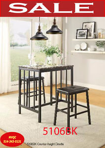 height kitchen & dinette room sets, tables, arm chairs, 5106