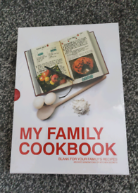 My family cookbook. Blank cook book. New. Never used.