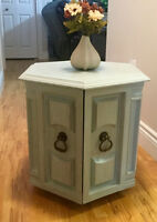 Chalk painted octagon table