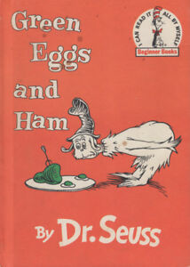 Green Eggs and Ham by Dr. Seuss Vintage 1960's Rare Book Edition