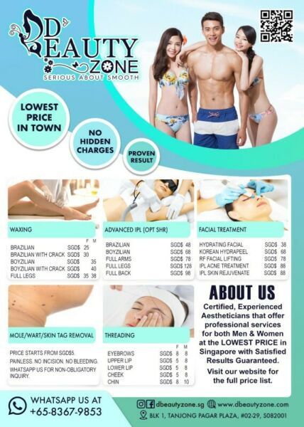Advanced IPL (OPT SHR) Cheapest Permanent Hair Removal Service For Men & Women, Here In Singapore !