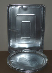 4 Round Foil Pans and 4 Rectangular Foil Pans : Clean : Not Used