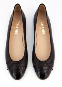 BLACK CHANEL FLATS FOR SALE!