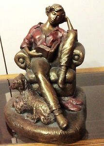 "Alice Heath Austin ""Woman and Her Dog"" Statuette"