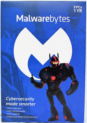 Malwarebytes Anti Malware Premium 3 3 1 3 Pc  1 Year  Product Key Card  Windows