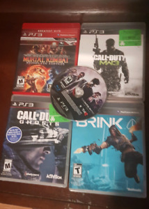 5 ps3 games, controller