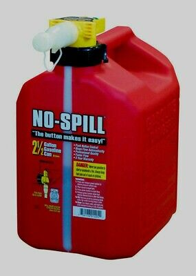 No-spill 1405 Poly Gasoline Fuel Gas Can Carb Epa Compliant 2.5 Gallon Red New