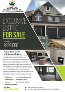 Dream Home For Sale - Oshawa - approx 3600+ Sqft!