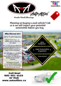 **Auto Allies** Used Automobile Maintenance Inspections