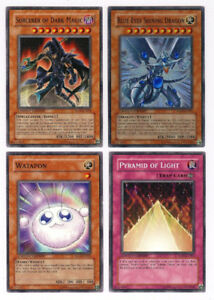 Yugioh Movie Pack 4 Card EN001,2,3,4 Blue-Eyes Shining Dragon