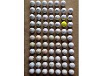 Approx 80 Top Make Golf Balls - Titleist, Srixon, Callaway, ProV1, etc