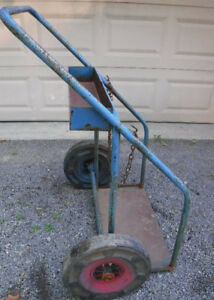 VINTAGE HAND CART DOLLY SPECIALTY CART REPURPOSE GARDEN CART