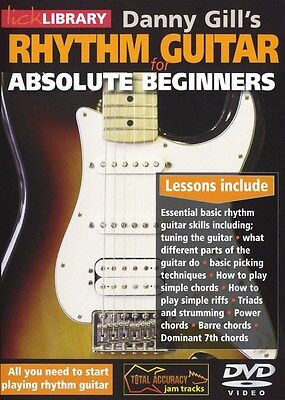 Lick Library RHYTHM GUITAR for ABSOLUTE BEGINNERS Video Lessons DVD Danny Gill on Rummage