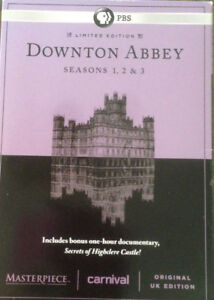Downton Abbey !st 2nd and 3rd seasons Dvds