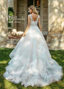 Calla Blanche Wedding Dress - Style 18116 - Alessia - Size 10