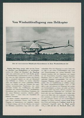 Hubschrauber Helikopter Luftfahrt Technik Sikorski S-51 Cierva Hoppi-Copter 1950