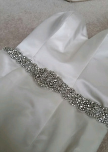 New wedding gown and bling belt