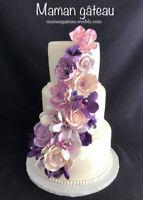 Confection de Gâteaux mariage, fête, shower, baptême